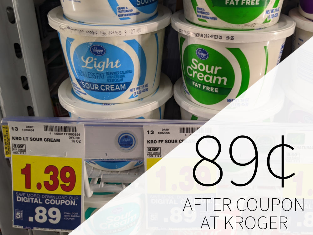Kroger Sour Cream, Cottage Cheese, or Dip Just 89¢ At Kroger