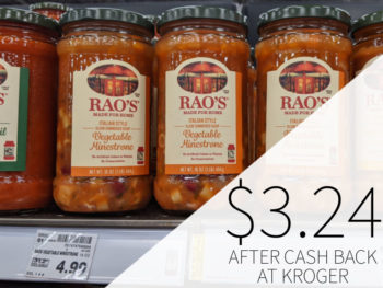Rao's Soup Just 99¢ At Kroger (Regular Price $4.99)