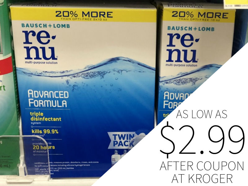Renu Twin Pack Advanced Solution As Low As .99 At Kroger (Save ) 1