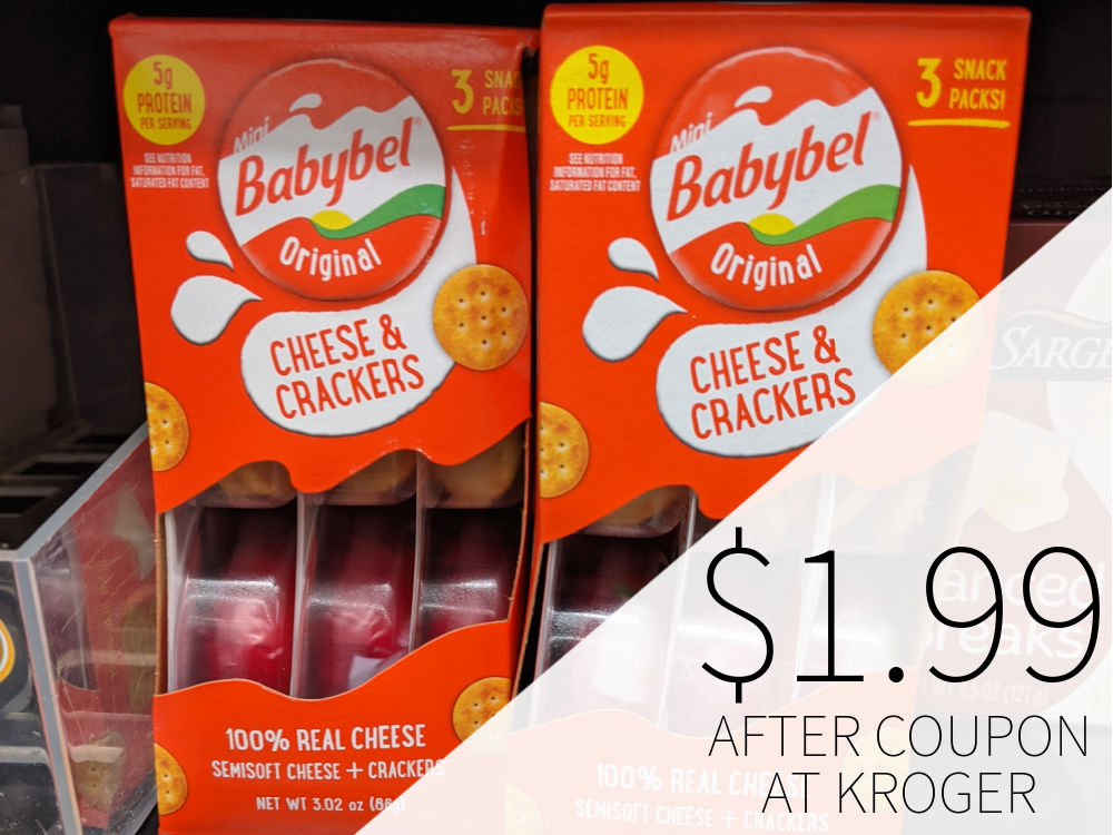 Babybel Cheese & Crackers Just $1.49 After Kroger Mega Sale (Less Than Half Price)