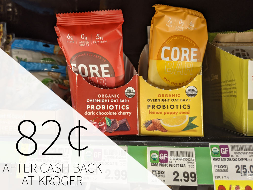 CORE Foods Overnight Oat Bars 82¢ Each At Kroger