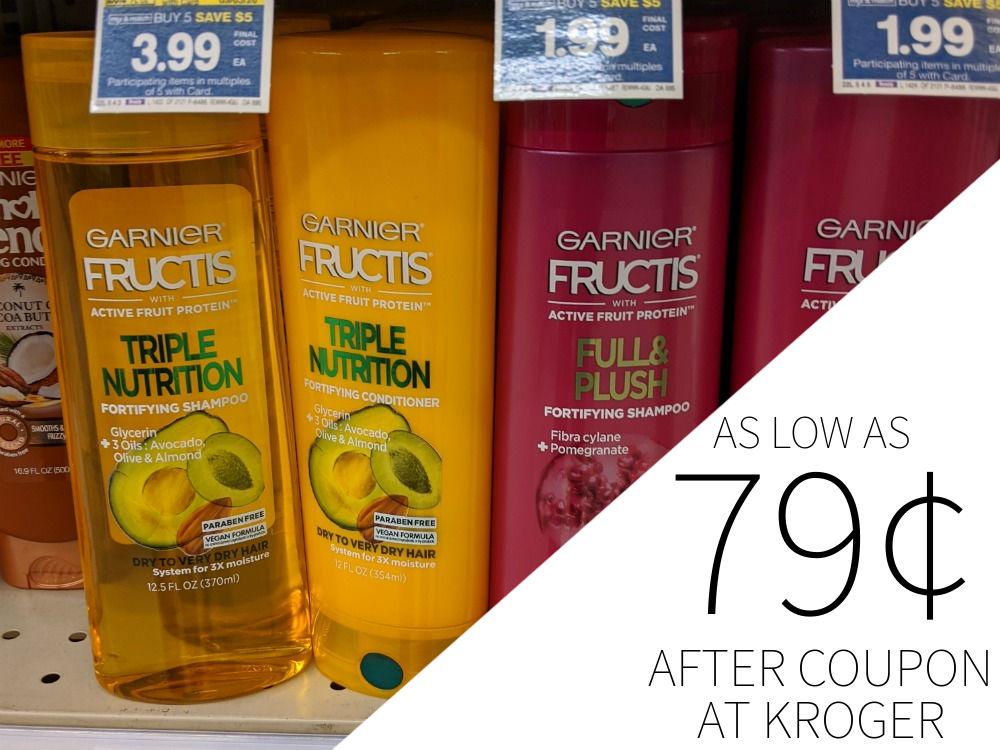 New Garnier Coupons - Fructis Hair Care As Low As 79¢ Per Bottle At Kroger