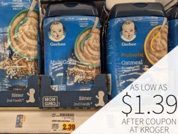 Gerber Cereal As Low AS $1.64 At Kroger