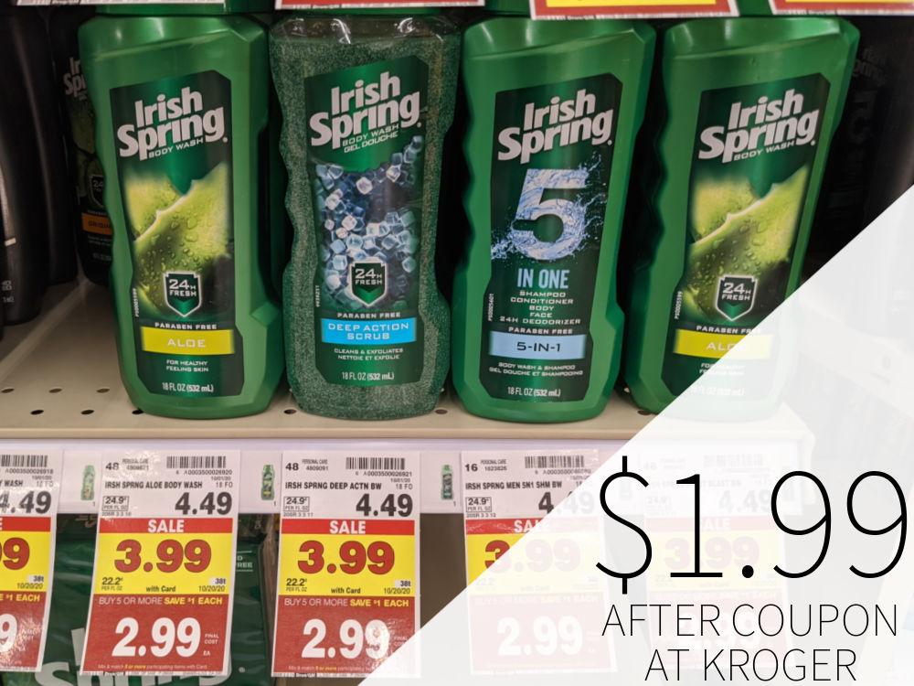 Irish Spring Body Wash Just $1.99 At Kroger - Less Than Half Price