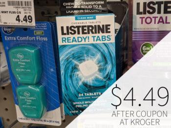 Listerine Ready Tabs Just $4.49 At Kroger