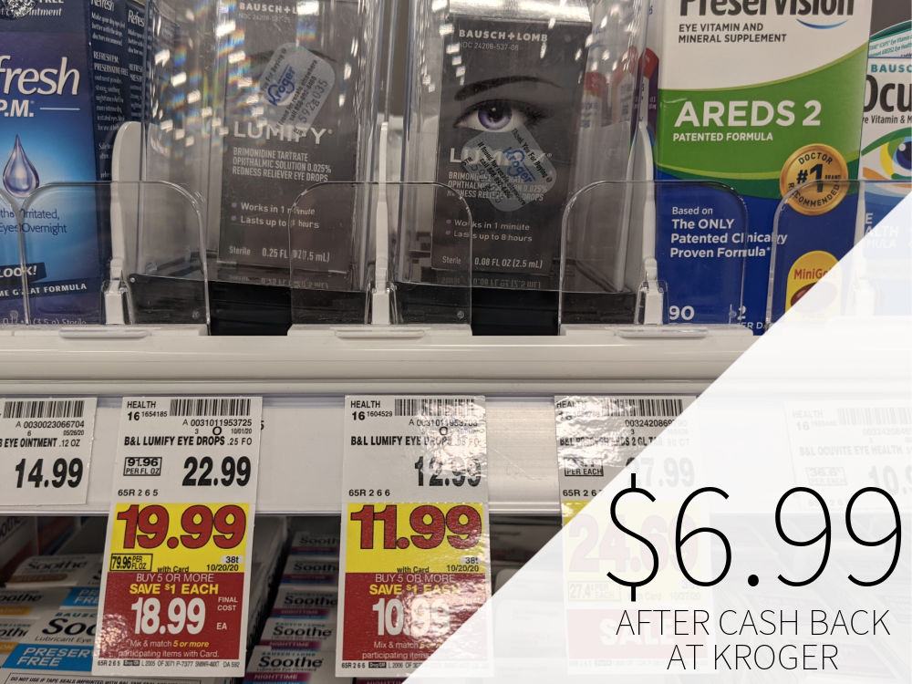 Bausch & Lomb Lumify Eye Drops Just .99 At Kroger