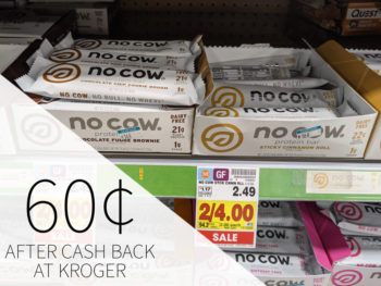 No Cow Protein Bar Just 60¢ At Kroger