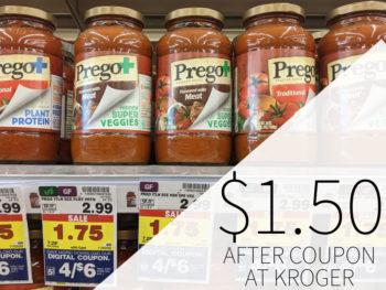Prego Pasta Sauce Just $1.50 Per Jar At Kroger