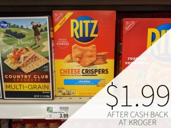 Nabisco Ritz Crispers Just 77¢ At Kroger