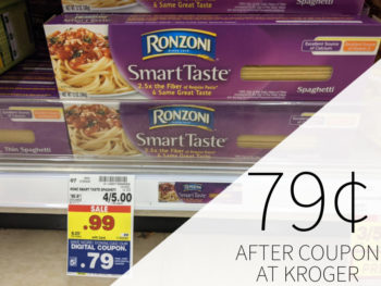 Ronzoni Garden Delight Or Smart Taste Pasta Just 79¢ At Kroger