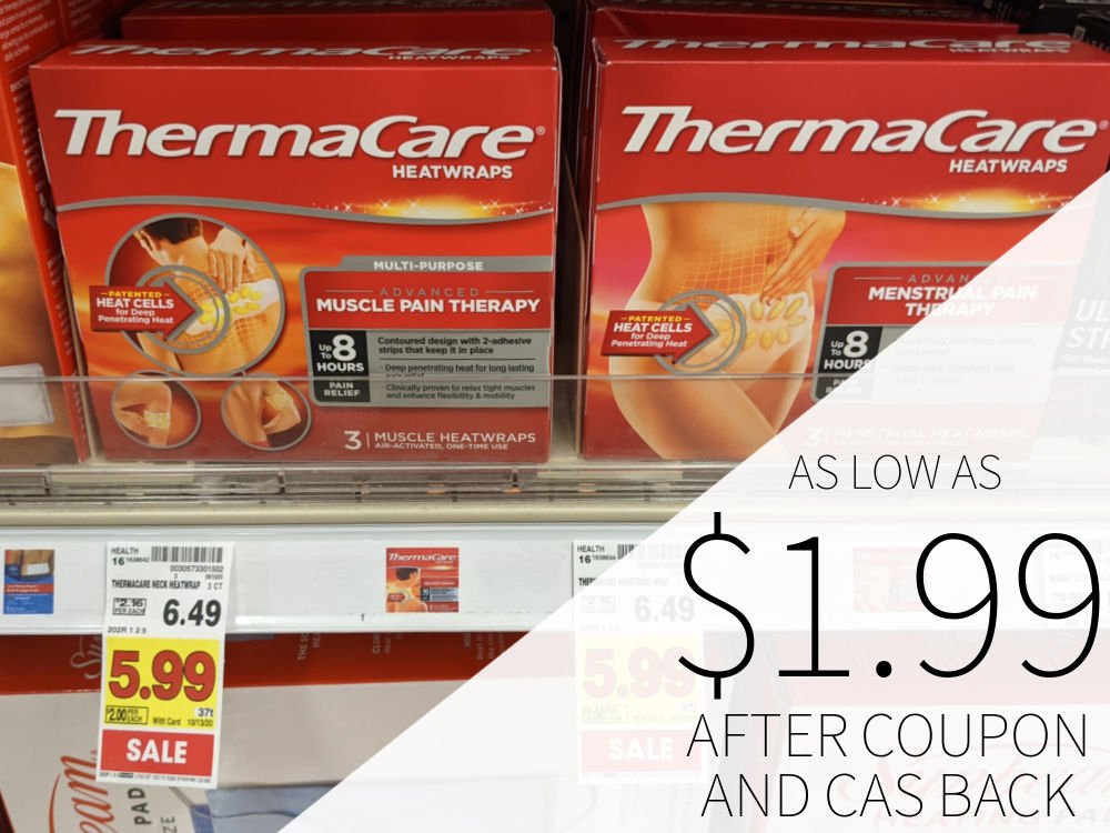 ThermaCare Heat Wraps As Low As $1.99 At Kroger