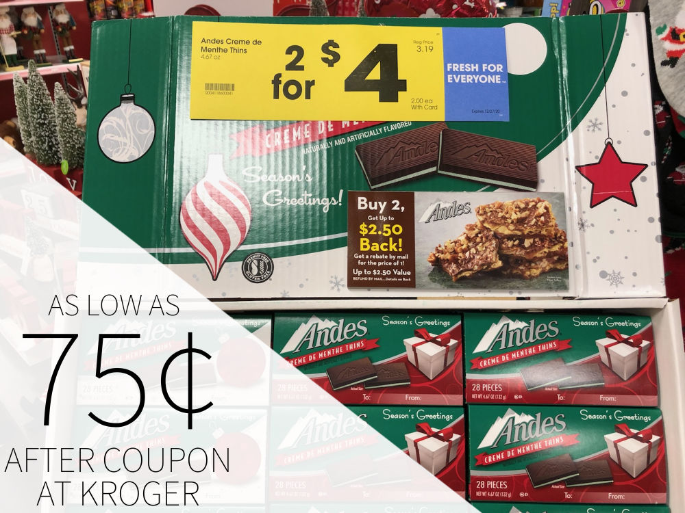 Andes Mints As Low As 75¢ Per Package At Kroger