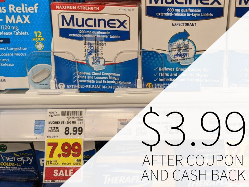 Mucinex 12 Hour As Low As $3.99 At Kroger