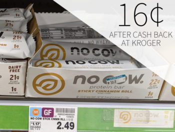No Cow Protein Bar Just 16¢ Per Bar At Kroger
