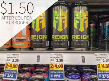 Reign Total Body Fuel Just $1.50 Per Can At Kroger