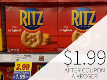 Nabisco Ritz Crackers Just $1.88 At Kroger 1