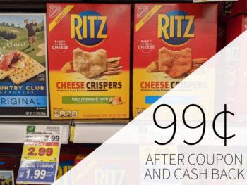 Nabisco Ritz Crispers Just 99¢ At Kroger