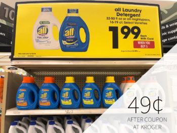All Liquid Laundry Detergent Just 49¢ At Kroger