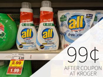 All Liquid Laundry Detergent Just 99¢ At Kroger