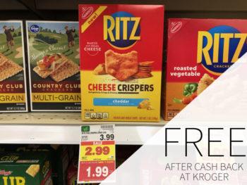 Nabisco Ritz Crispers FREE At Kroger
