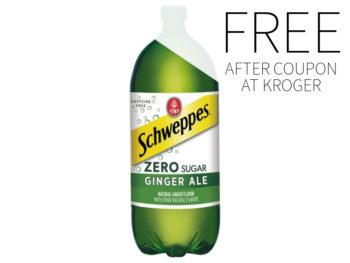 FREE Schweppes Zero Sugar At Kroger
