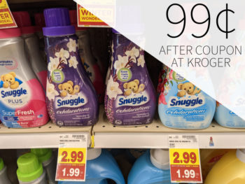 Snuggle Products Just 99¢ At Kroger