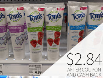 Tom's of Maine Children's Toothpaste Just $2.84 At Kroger