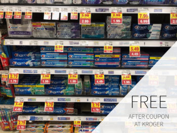Crest Toothpaste As Low As FREE At Kroger 2