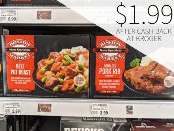 Boston Market Frozen Entrees Just $1.89 At Kroger