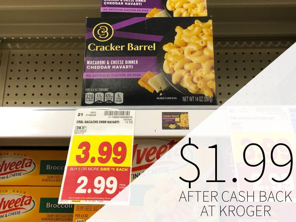 Cracker Barrel Mac & Cheese Just $1.99 At Kroger