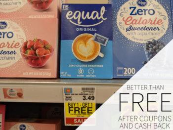 Equal Sweetener Better Than FREE AT Kroger