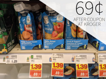 Gerber Pouches Just 69¢ At Kroger