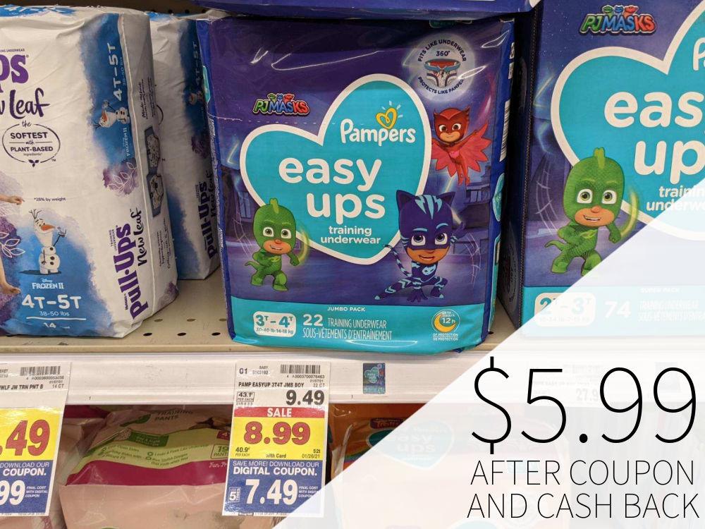 Pampers Easy Ups Just $3.50 Each At Kroger ( Reg $9.49 )