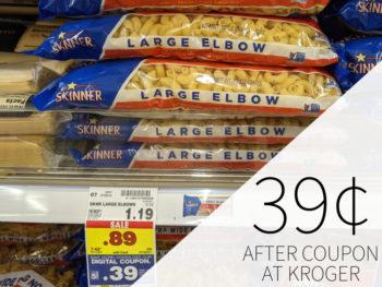 Skinner Pasta Just 39¢ At Kroger