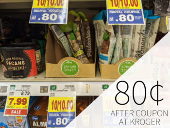 Simple Truth Pistachios or Almond Tube Just 80¢ At Kroger