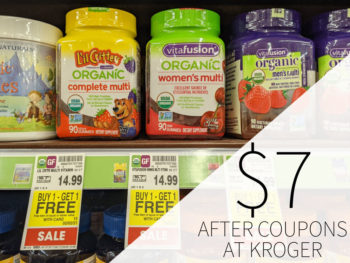 Vitafusion Or L'il Critters Supplements As Low As $7 Per Container At Kroger