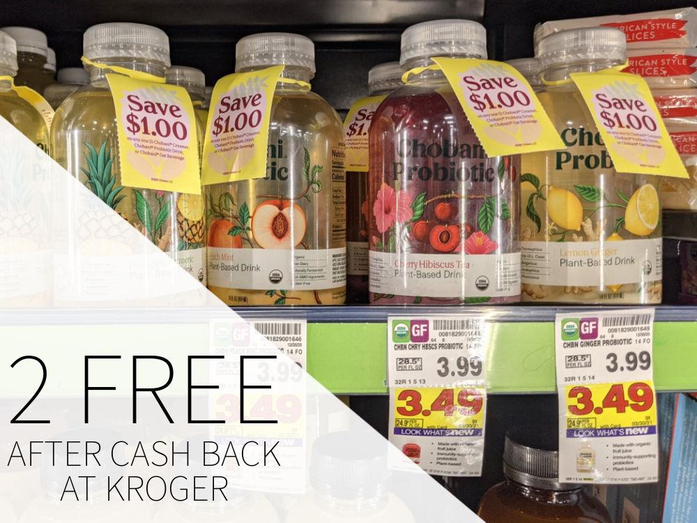 Chobani Probiotic Drink  - TWO Bottles FREE At Kroger