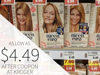 Clairol Hair Color As Low As $4.49 Per Box At Kroger
