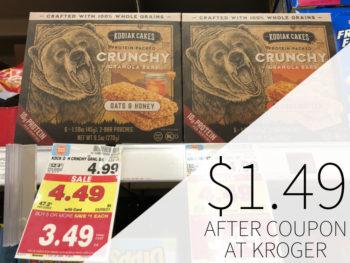 Kodiak Cakes Protein Oats Or Crunchy Granola Bars Just $2.49 At Kroger - Half Price!