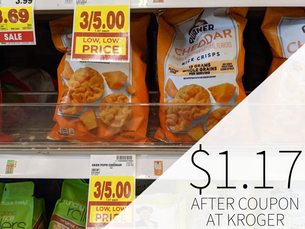 Quaker Rice Crisps Just 99¢ Per Bag At Kroger 1