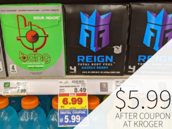 Reign Total Body Fuel 4 Count Just $5.99 At Kroger