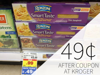 Ronzoni Garden Delight Or Smart Taste Pasta Just 49¢ At Kroger