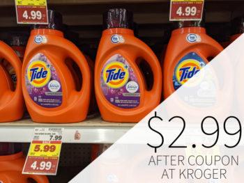 Tide Laundry Detergent Just $2.99 At Kroger 2
