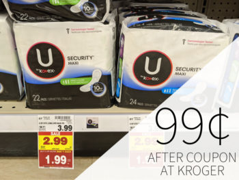 U By Kotex Products As Low As 99¢ At Kroger 3