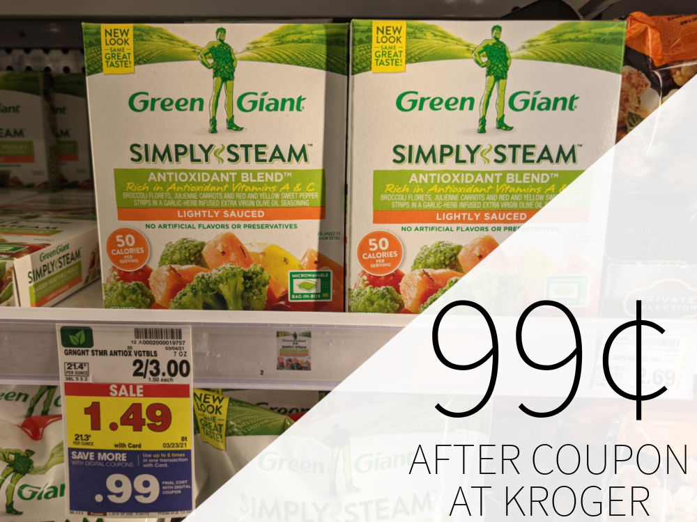 Green Giant Simply Steam Vegetables As Low As 99¢ At Kroger