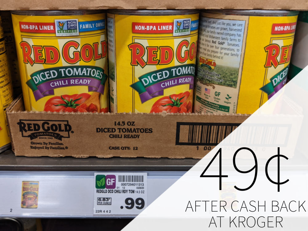 Red Gold Chili Ready Tomatoes As Low As 49¢ Per Can At Kroger