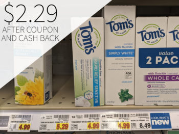 Tom's Of Maine Toothpaste Just As Low As $2.29 At Kroger
