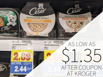 Cesar Wholesome Bowls As Low As $1.35 Each At Kroger