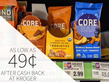 CORE Foods Overnight Oat Bars Just .25 At Kroger