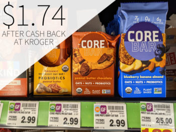 CORE Foods Overnight Oat Bars 82¢ Each At Kroger 2